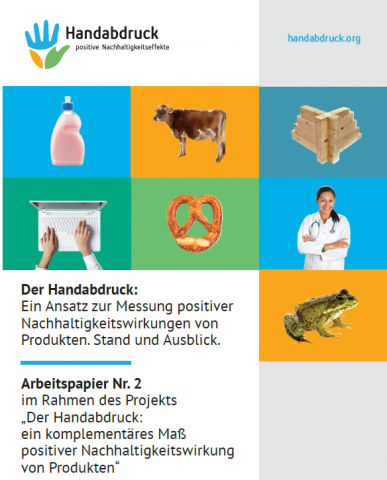Titelseite der Handabdruck-Publikation