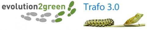 Logos von evolution2green und Trafo 3.0