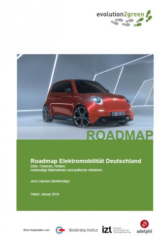 Das Foto zeigt das Cover-Bild der Publiktion - ein roter Elektrokleinwagen steht in futuristisch desigtem Raum.