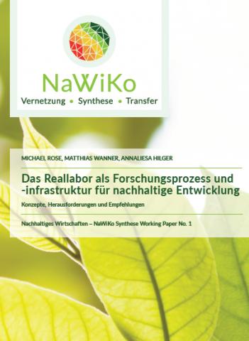 Das Foto zeigt das Titelbild des 1. NaWiKo-Synthesepapiers